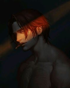 Shanks<<idk who Shanks is but I would just like to point out that this is Mccree. Character Concept, Character Art, Concept Art, Dark Fantasy Art, Dark Art, Yandere Boy, Ai No Kusabi, Vampire Art, Boy Art