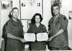 Nurse (Unknown) being Awarded the Bronze Star, Vietnam
