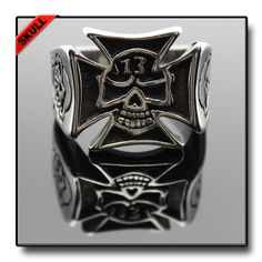 lLUCKY 13 CELTIC CROSS SKULL RING