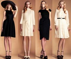temperley london - great dresses, great hair. Black Dresses are the best.