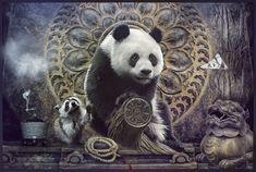 Om mani padme hum ... Panda   Om mani padme hum ... Panda by…   Flickr Collage Making, Collage Art, Tibetan Mantra, Om Mani Padme Hum, Photo Contest, Panda Bear, Asian Art, Creative Art, Surrealism