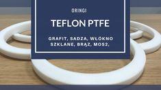 Oringi TEFLON PTFE z grafitem, z koksem, brązem,  węglem, włóknem szklanym.