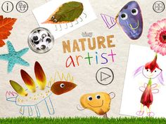 Tiny Nature Artist: Make Art with Nature on the iPad- A fun art activity game using nature as a drawing prompt. Activity Games, Art Activities, Fun Art, Cool Art, Funny Apps, Drawing Prompt, Nature Artists, Googly Eyes, Make Art