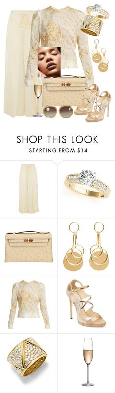"""Monte Carlo: Luxury"" by kaylyn-80864 ❤ liked on Polyvore featuring Rosetta Getty, Hermès, MANGO, Brock Collection, Jimmy Choo, Marina B, RogaÅ¡ka, Ted Lapidus, montecarlo and outfitsfortravel"