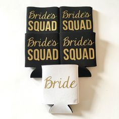 Bride's Squad Bachelorette Coozies $8 each, so cute for the bachelorette party!