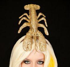 Gold Glitter Lobster Headband  Lady Gaga Inspired by PungoPungo, $45.00