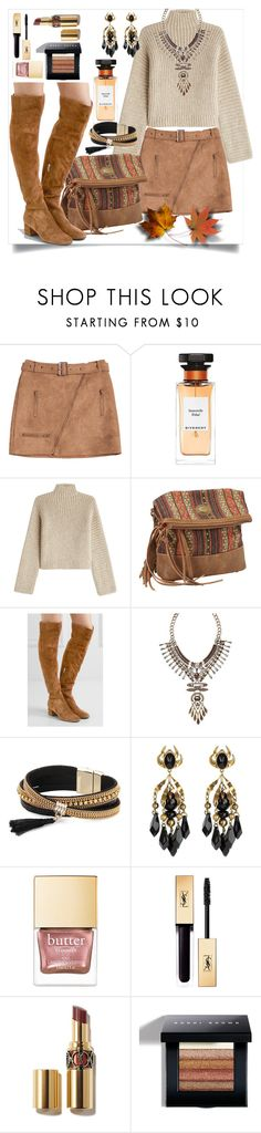"""Over knee"" by st-edmundcollege ❤ liked on Polyvore featuring Givenchy, Rosetta Getty, Bandana, Gianvito Rossi, Avon, Simons, Gucci and Bobbi Brown Cosmetics"
