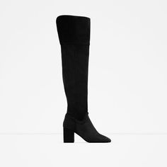 Image 1 of OVER THE KNEE HIGH HEEL LEATHER BOOTS from Zara