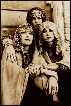 Originally, Hellena, Florinda, and Valeria went to the carnival dressed as gypsies.  They told the men they would read their fortunes.