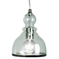 Home Decorators Collection 1-Light Polished Nickel Ceiling Bell Pendant with Clear Glass Shade 25418-32 at The Home Depot - Mobile