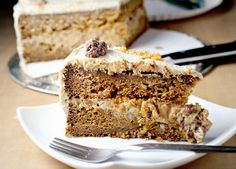 Pumpkin Layer Cake With Butterscotch Filling And Brown Sugar Icing...
