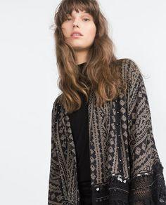 Image 2 of PRINTED KIMONO from Zara