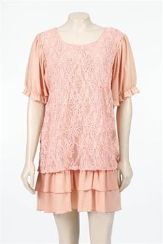 Lady Noiz pink ruffle tunic available at www.DirtRoadDivaBoutique.com
