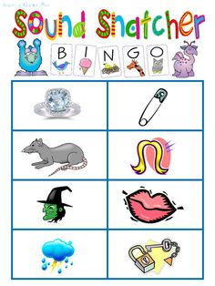 Worksheet Free Phonemic Awareness Worksheets 1000 images about schools in session on pinterest phonemic sound snatcher bingo great for small group readingphonics directions included