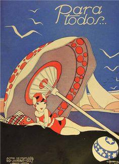 Illustration cover by José Carlos (1884-1950), Jan. 27, 1927, Para Todos…, # 424, Brazil. Ielle