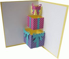 pop up present card