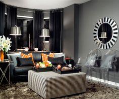 Elegant interior design with black! #Decor