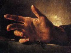 Etude d'une main et d'une mouche. Théodore Géricault
