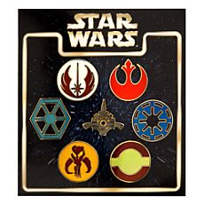 Star Wars Emblems Disney Authentic Trading Pin Set 7 Total LE Pins Brand NEW - Star Wars Jewelry - Fashionable Star Wars Jewelry - Star Wars Disney Pins, Disney Pins Sets, Disney Pin Trading, Star Wars Quotes, Star Wars Humor, Star Wars Merchandise, Disney Merchandise, Star Wars Schmuck, Star Wars Ring