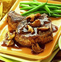 Recipe For Sage Rubbed Pork Chops With Wild Mushroom Sauce