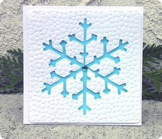 Pretty SNOWFLAKE cards cutting files - ONE snowflake, two cards!