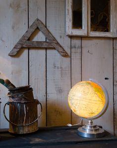 #Globe #lumineux. #brocantedelabruyere.