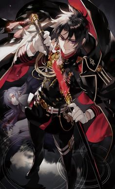 hirragis: Seraph of the End - Volume 8 cover, ft. Guren Ichinose (cleaned by hirragis) Please credit if you use it for your edits or whatever!