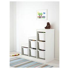 TROFAST Storage combination with boxes - white - IKEA