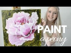 Painting Tutorial Acrylic Peony Flower Techniques Katie Jobling Art You. Acrylic Painting Tutorials, Acrylic Art, Acrylic Painting Canvas, Canvas Paintings, Acrylic Painting Techniques, Painting Videos, Painting Process, Painting Tips, Painting Workshop
