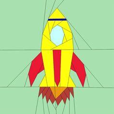 Free Quilt Pattern:  Rocket