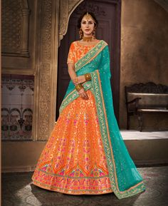 Looking for Lehenga Online: Buy Indian lehenga choli online for brides at best price from Andaaz Fashion. Choose from a wide range of latest lehenga designs. * Express delivery, Shop Now! Brocade Lehenga, Banarasi Lehenga, Indian Lehenga, Lehenga Choli Online, Bridal Lehenga Choli, Lehnga Dress, Salwar Kameez, Churidar, Indian Wedding Outfits