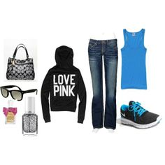 sporty outfit, created by kinnapoo on Polyvore