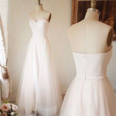 Charming Prom Dress,White Floor Length Prom Dress with zipper ,MB 214