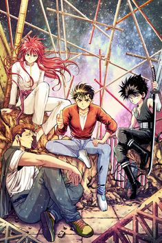 Yu Yu Hakusho | Urameshi Yusuke | Kurama | Yoko | Hiei | Kuwabara | Kazuma | Anime