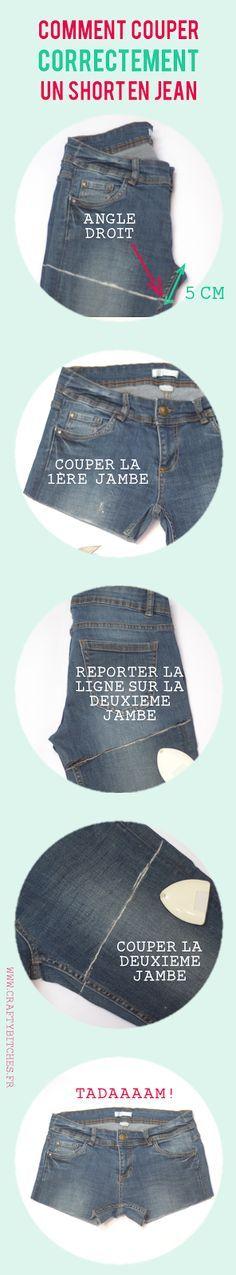 Crafty Bitches - Blog DIY, Couture, Déco, Vintage. Tuto couture, Do it yourself, décoration, rétro.: Comment couper un short en jean (sans faire de massacre)