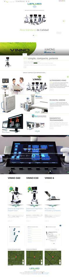 Desarrollo web para Lealmed, empresa de suministro de equipamientos y servicios para el Diagnóstico por imágenes médicas.