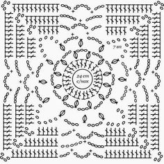 Patterns and motifs: Crocheted motif no.Crochet Granny Square Rose SSweaters and crochet jackets for spring 28 1 – ArtofitI'm in love with this bedspread Crochet Squares, Crochet Motif Patterns, Granny Square Crochet Pattern, Crochet Blocks, Crochet Diagram, Crochet Chart, Crochet Granny, Irish Crochet, Crochet Stitches