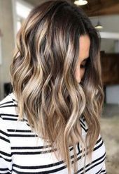 Balayage is the hottest dyeing technique right now. Check the chicest variants o. Balayage is the hottest dyeing technique right now. Check the chicest variants of balayage highlights and fin Blonde Balayage Highlights, Balayage Ombré, Brown Balayage, Hair Color Highlights, Hair Color Balayage, Brown Highlights, Ombre Hair, Ombre Brown, Blonde Hair