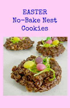 I decided to make this fun Easter Egg No Bake Cookie Nests! They are a switch between the classic birds nest you see around the holiday!