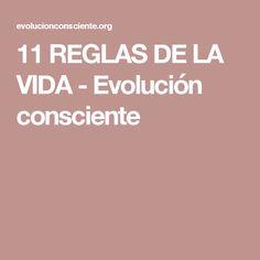 11 REGLAS DE LA VIDA - Evolución consciente