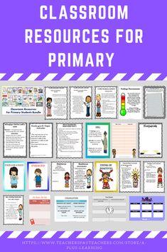 Classroom Resources for Primary Students Mega Bundle Classroom Rules, Classroom Posters, Primary Classroom, School Classroom, Classroom Resources, Elementary Teacher, Behavior Management Strategies, Classroom Management, Classroom Organization