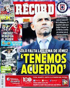 ¡Buen día! @ClubAmerica domina a @Chivas en Liguilla; Jémez confirma que será DT de C. Azul #hoyentuRÉCORD #Portada record.mx/1PL5iaL