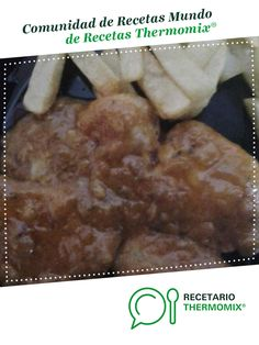 FILETES DE POLLO EN SALSA DE ALMENDRAS por Merche Santos. La receta de Thermomix<sup>®</sup> se encuentra en la categoría Carnes y aves en www.recetario.es, de Thermomix<sup>®</sup> Pan Frito, Carne, Mashed Potatoes, Ethnic Recipes, Food, The World, Sauces, Cooking Recipes, Clean Eating Meals