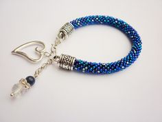 """Bead  BRACELET  """"AZURE SHINE"""" from Jewellery with a Touch of Magic bySHINE by DaWanda.com"""