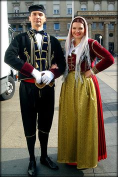 Traditional dress from Zagreb, Croatia