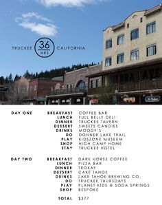 Traveling to Truckee, CA for $500 or less. @VisitTruckee