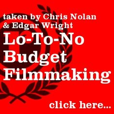 Lo-to-No Budget Filmmaking equipment