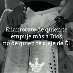 Fall in love with someone you pushes you closer to God, not away from Him❤ Wisdom Quotes, Bible Quotes, Bible Verses, Quotes About God, Love Quotes, Inspirational Quotes, Cute Spanish Quotes, Frases Love, Amplified Bible