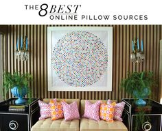 Mimosa Lane: Interiors || Eight Best Online Pillow Sources