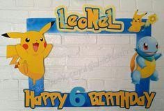 Pikachu Pokemon Frame / Photo Booth / Photo Prop Digital File
